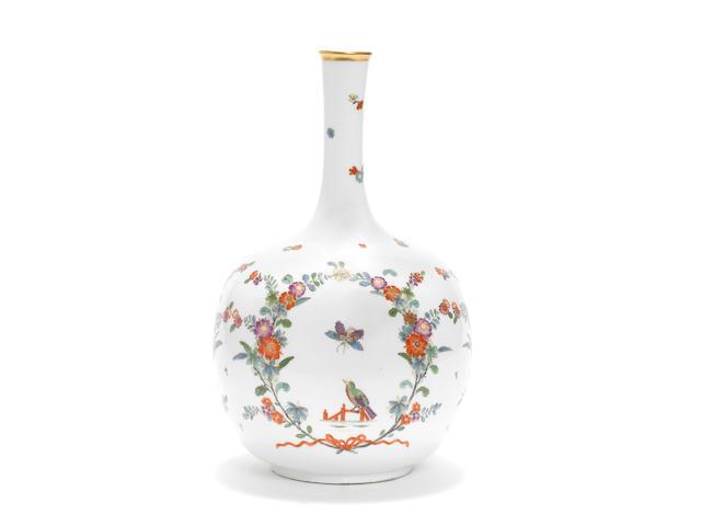 A Meissen Augustus Rex bottle vase, circa 1730
