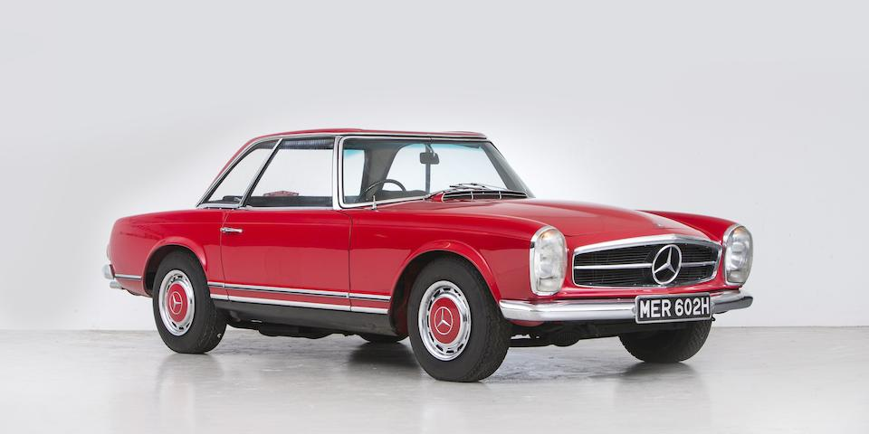 1969 Mercedes-Benz 280SL 'California Coupé' with Hardtop  Chassis no. 1130442011204 Engine no. 13098322007002