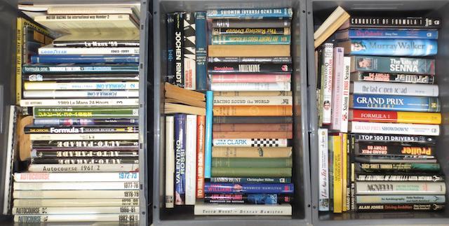 A quantity of Grand Prix and motorsport books,