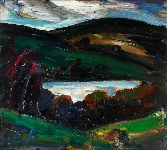 Peter Collis R.H.A. (Irish, born 1929) Reservoir at Roundwood