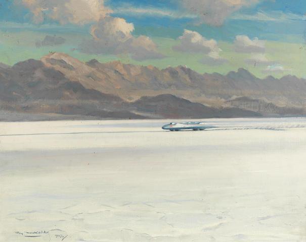 Roy Nockolds (British, 1911-1979), 'John Cobb - Napier Railton Mobil Special',