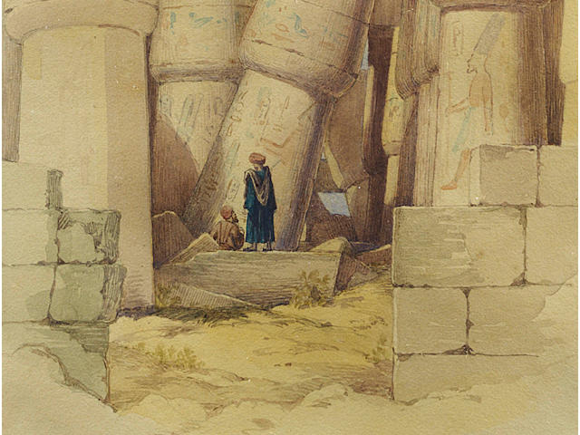 Richard Dadd (British, 1817-1886) The Hall Built by Tathmosis III in the Great Temple of Anom Karnak, Luxor