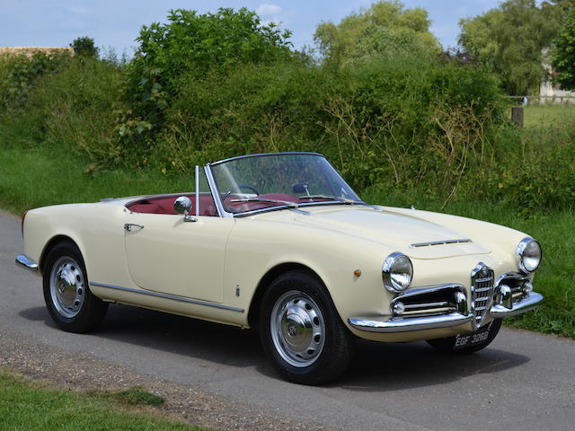 1964 Alfa Romeo Giulia Spider 101  Chassis no. AR 383350 Engine no. 00112 13947