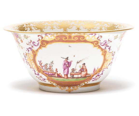 A Meissen waste bowl, circa 1724
