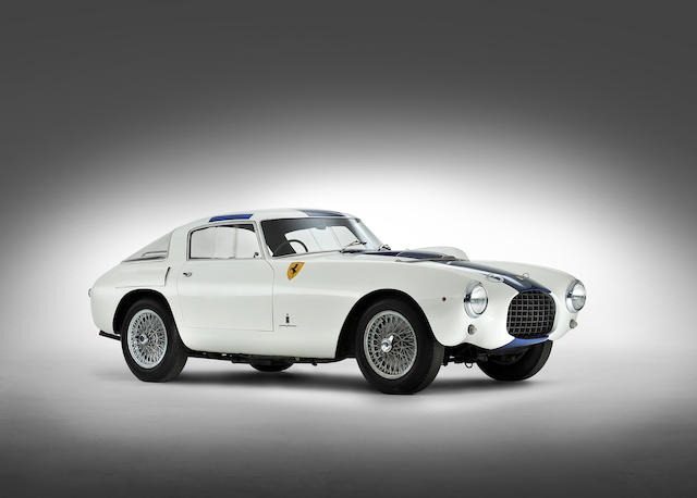 <i>The Ex-Phil Hill, Bill Devin, Count Vittorio Zanon</i><br /><b>1953 FERRARI 250 MILLE MIGLIA BERLINETTA</b><br />Chassis no. 0312 MM<br />Engine no. 0312 MM