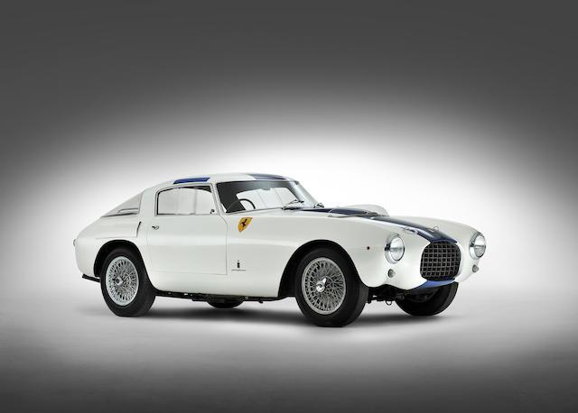 <i>The Ex-Phil Hill, Bill Devin, Count Vittorio Zanon</i><br /><b>1953 FERRARI 250 MILLE MIGLIA BERLINETTA</b><br />Chassis no. 0312 MM<br />Engine no. 0312 MM