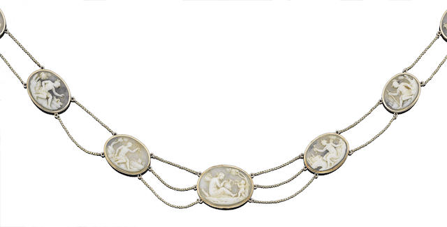 A shell cameo necklace,