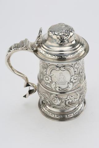 A George III silver lidded tankard by Hester Bateman, London 1789
