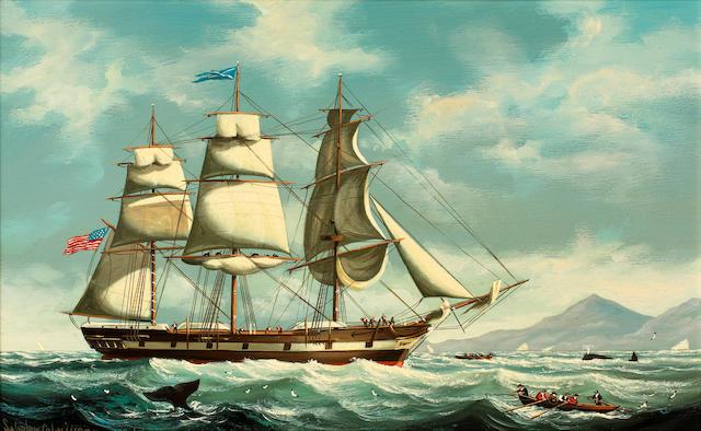 Salvatore Colacicco (British/Italian, 1935) 19th Century American whaling ship; and a companion