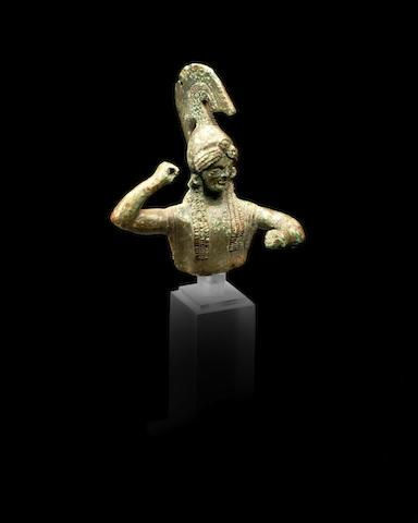 A Greek bronze bust of Athena Palladion