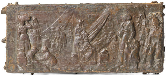 Anton van Wouw (South African, 1862-1945) 'Women's Memorial bas-relief panel'