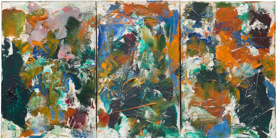 Joan Mitchell (American, 1925-1992) Untitled (Triptych) 1975-1976