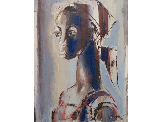 Gerard Sekoto (South African, 1913-1993) 'The Head with a Turban'