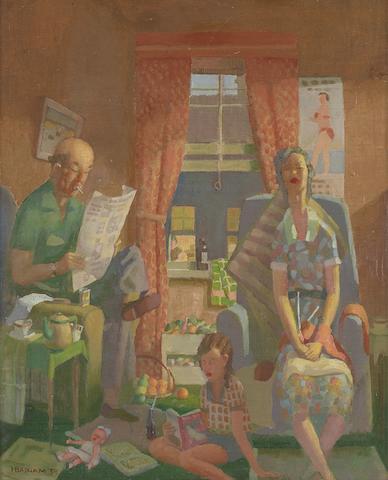 Herbert Badham (1899-1961) Domesticity, 1959