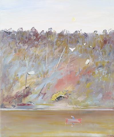 Arthur Boyd (1920-1999) Fishing at Dusk on the Shoalhaven, c.1983