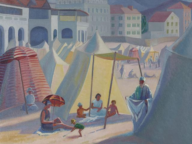 Roy De Maistre (1894-1968) Beach at St Jean de Luz, 1924