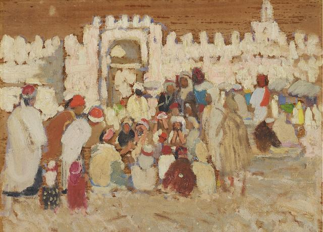 Emanuel Phillips Fox (1865-1915) North African Marketplace, c.1910