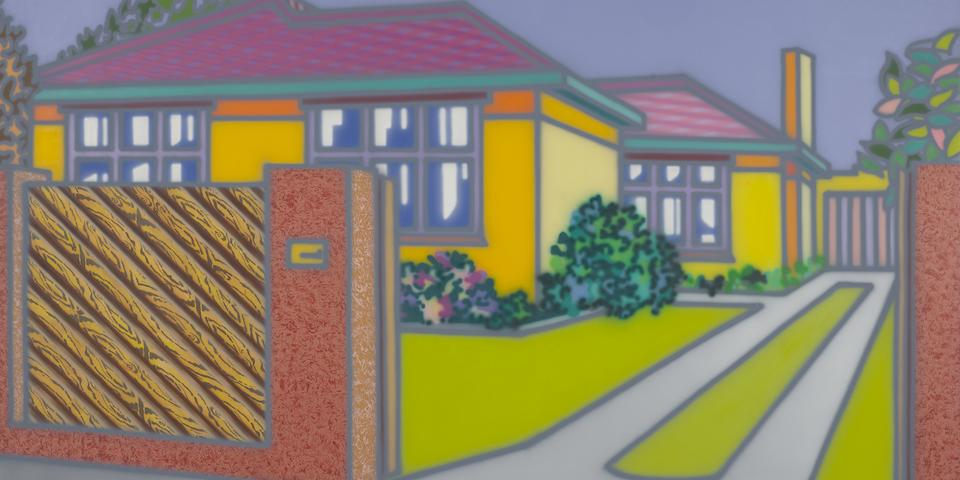 Howard Arkley (1951-1999) A Large House with Fence, 1998