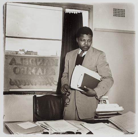 Jürgen Schadeberg (South African, born 1931) 'Nelson Mandela in his Law Office'