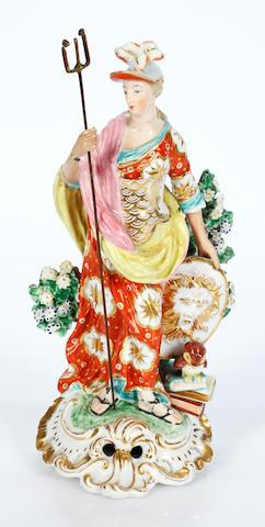 A Derby figure of Minerva, circa 1780