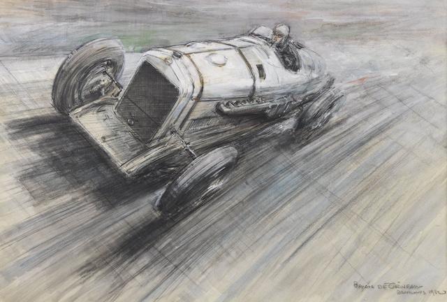 Formerly the property of Oliver Bertram, Bryan de Grineau (British, 1883-1957), 'Plenty on the Clock', 1932,