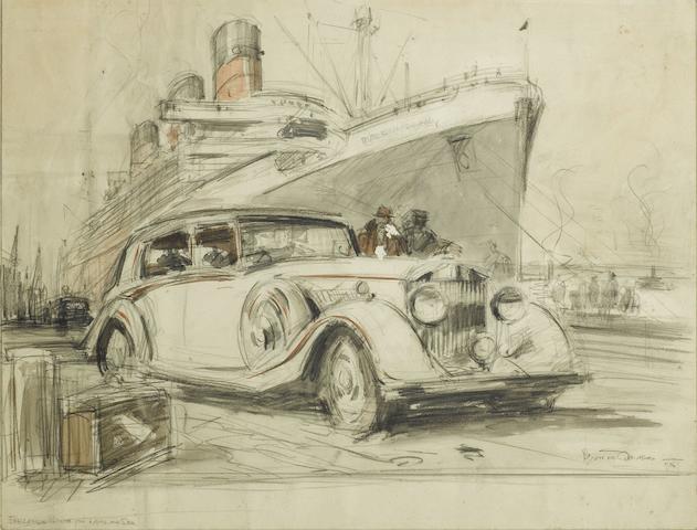 Bryan de Grineau (British, 1883-1957), 'England's Pride on Land and Sea', 1936,