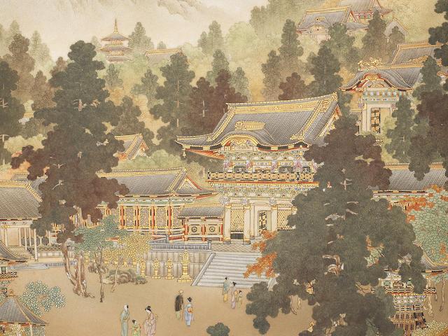 A fine Kyoto-Satsuma saucer dish Signed Kinkozan, Meiji/Taisho Period