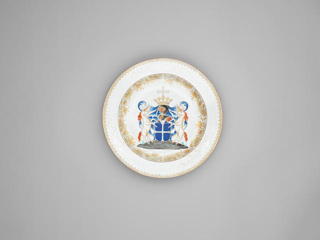 A large armorial dish for the Belgian Market Qianlong, circa 1740