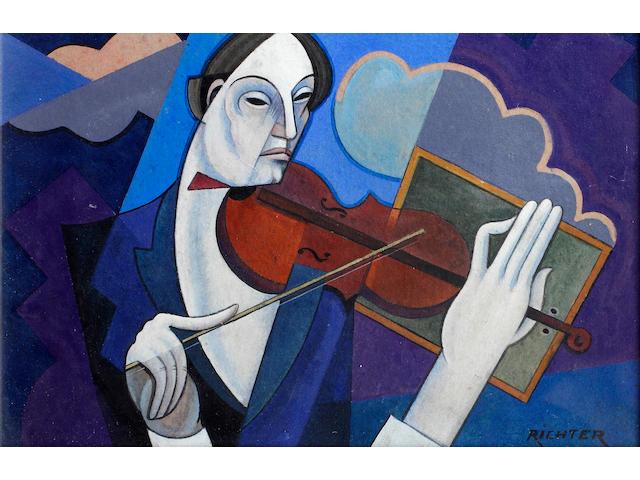 Aurel Richter (Hungarian, 1870-1957) The Violinist