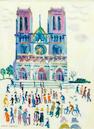 Fred Yates (British, 1922-2008) Notre Dame