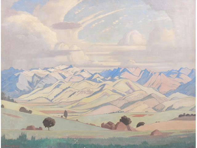 Jacob Hendrik Pierneef (South African, 1886-1957) Drakensberg