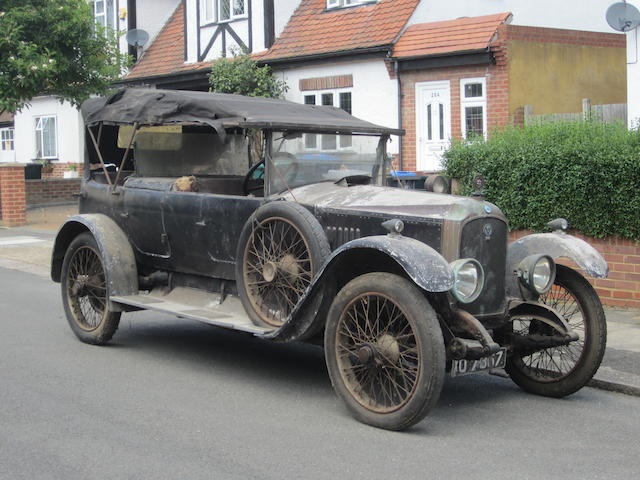 Property of a deceased's estate,1923 Vauxhall Type OD 23-60hp Kington Tourer  Chassis no. OD 481 Engine no. OD 482