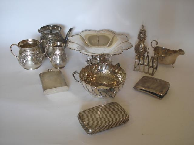 A collection of silver various makers and dates (11)