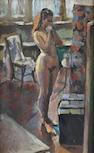 Sherree Valentine-Daines (British, born 1956) Female nude within interior