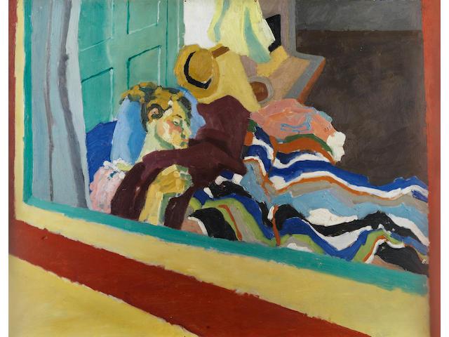 Maggi Hambling (British, born 1945) View through a window