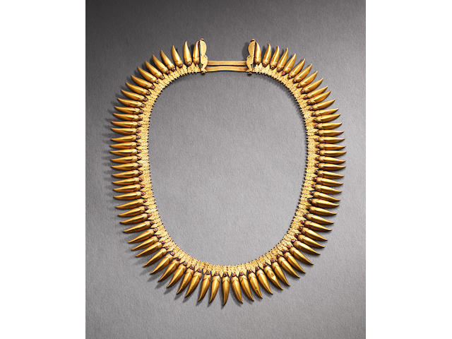A gilt and embellished 'jasmine buds' bridal necklace Indian, 19th century