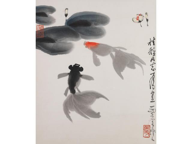 Wu Zuoren (1908-1997) Amusement of Goldfish