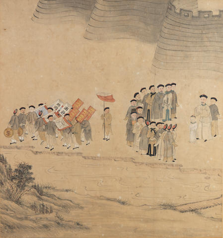 Chinese School (18th/early 19th century) Manchu Activities