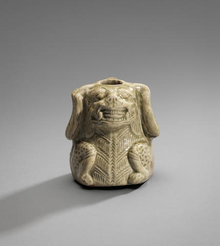 A rare Yueyao 'mythical beast' water pot Western Jin Dynasty