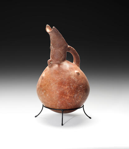 A large Cypriot red polished ware flagon