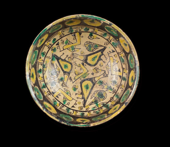 A Nishapur buffware pottery Bowl Persia, 10th Century