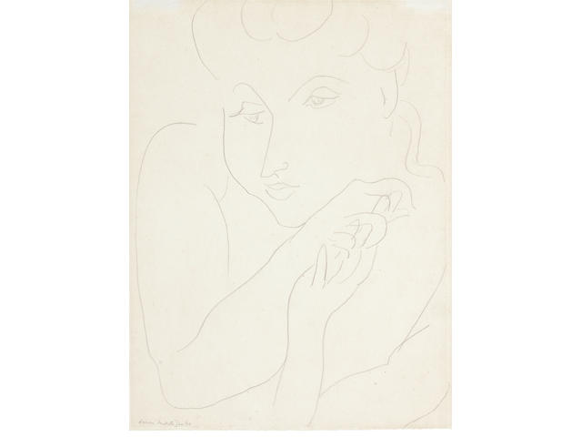 Henri Matisse (French, 1869-1954) Portrait de femme (Executed in 1940)