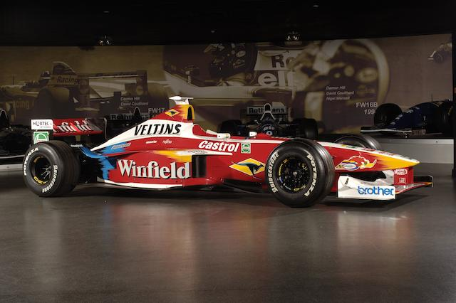 The ex-Alessandro Zanardi - 14 Grand Prix races,1999 Williams-Supertec Renault FW21 Formula 1 Racing Single-Seater  Chassis no. FW21-05