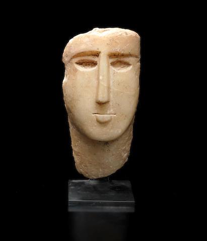 A South Arabian alabaster male head