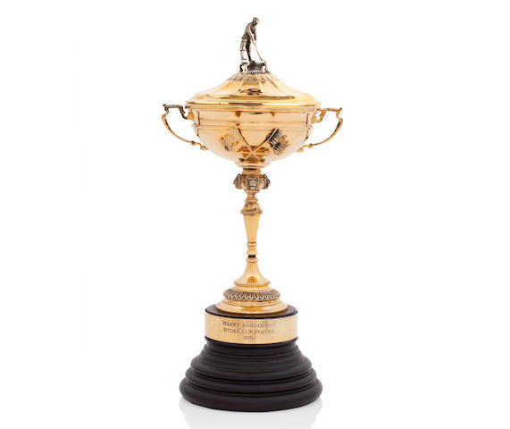 Harry Bannerman's silver-gilt replica Ryder Cup trophy By Asprey, London 2001