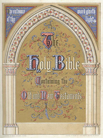 FRITH (FRANCIS) The Holy Bible, Containing the Old and New Testament, Eyre & Spottiswoode, 1861