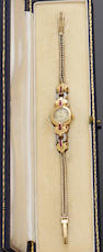 Girard Perregaux: A gem set lady's wristwatch and a collection of jewellery (6)