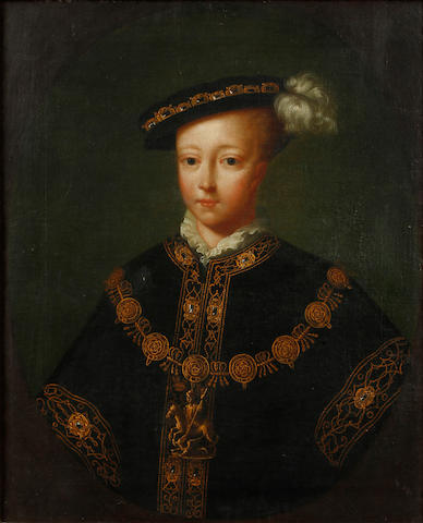 English School, 18th Century Portrait of Edward VI