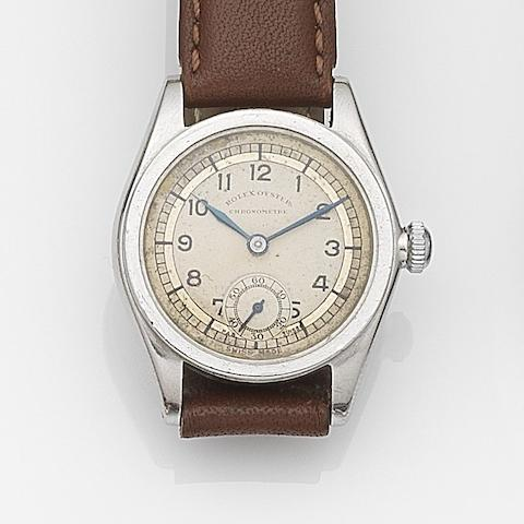 Rolex. A stainless steel manual wind wristwatch  Oyster Chronometer, Case No.69730, Circa 1940