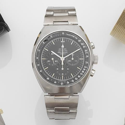 Omega. A stainless steel manual wind chronograph bracelet watch Speedmaster Mark II, Ref:143.014, Movement No.28087878, Circa 1969